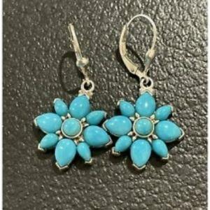 Carolyn Pollack Turquoise Earrings W5